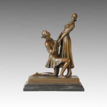 Dancer Statue Lovers Bronze Sculpture, D. H. Chiparus TPE-181