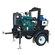 Unidad de la bomba de aguas residuales del remolque autocebante del motor diesel de la serie T-6
