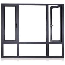 Китай Поставщик Низкая стоимость энергии Изолированные двойные стеклянные алюминиевые двери и окна