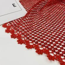 Tecidos circulares do bordado da guipura das lantejoulas da vieira do setor