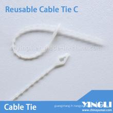 Attaches de câble réutilisables d'une longueur de 160 mm