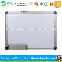 Magnetic white board with holder