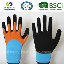 Gants givrés au latex, gants de travail de sécurité de finition sablonneuse (SL-RS304)