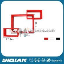 Современный верхний глянцевый декоративный полк настенный декоративный кубический пол Home CD Rack