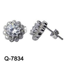 Nueva joyería de plata de los pendientes de la manera del diseño 925 (Q-7834. JPG)