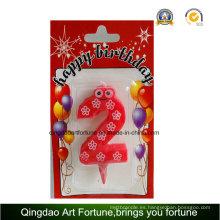 Forma caliente del número de la vela de la torta de la fiesta de cumpleaños de la venta
