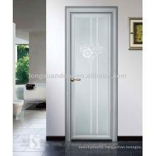 Aluminum door, Single Swing Door with Mosaic Glass