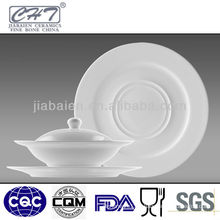 "6.5""Bone china soup bowl with lid and saucer in different size"