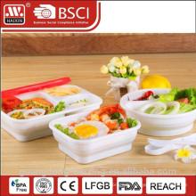 Récipient de nourriture carrés, Articles de ménage en plastique (0,9 L)