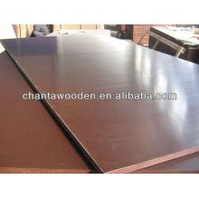 18mm negro / marrón película enfrentó madera contrachapada dos veces con prensa caliente