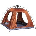 Ein Schlafzimmer eine Halle viele Leute im Freien kampierendes doppeltes Zelt