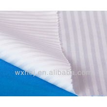 240 THREAD COUNT 4MM SATEEN STRIPE BLEACHED BED LINEN FABRIC