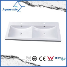 Artificial Stone Double Bowl Bathroom Sink and Vanity Top Acb1204A