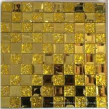 Gold Mosaic Tile Diamond Mirror Mosaic (HD069)