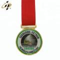 Wholesale zinc alloy custom printing logo gold metal sports medals