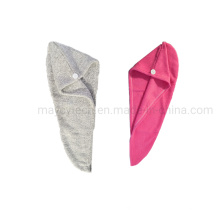 Efficient and Stylish Hair Turbans and Fast Dry Hair Towel Wraps, Custom Logo and Design Embroidery Cap Towel, Microfiber Coral Fleece Hand Face Bath Towel