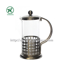 Glass Teapot with Stainless Steel (12*8.5*15)