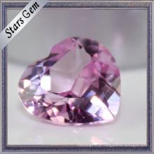 Brilhante Corte Coração Forma Rubi Sintético Gemstone