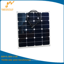 Kit Semi Flexible Panel Solar 50W Mono o Poly con Diodo
