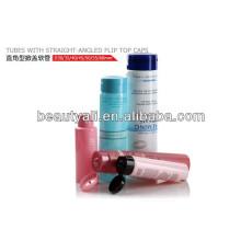 Пластиковые упаковочные тубы с прямолинейными откидными крышками