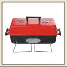 Parrilla de barbacoa portátil roja, parrilla de barbacoa con tapa (CL2C-ADJ05)