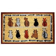 rubber printed cat feeding mat
