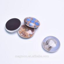 christmas crystal glass fridge magnets in bulk ,round shape fridge magnets