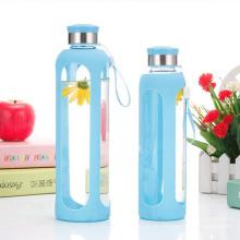 Umweltfreundliche Wasser-Glasflasche, Sport-Silikon-Flasche