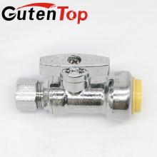 GutenTop высокая quality1/4 Угол поворота остановиться на быстросъемный клапан с 1/2 дюйма нажимаем x 3/8 сжатия дюйма хромированный