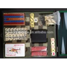 juego de ajedrez de damas de backgammon establecido