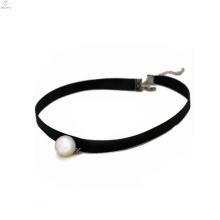 2018 Black Velvet Pearl Tattoo Fabric Choker Necklace For Women