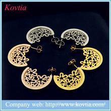 Antique jewelry express alibaba 18k en or titane en acier creux pattern pattern