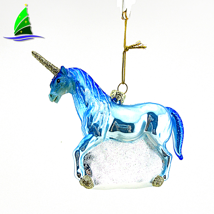 Glass Unicorn Ornament