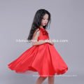 2017 Brand Hot Color Red Blue Girls Princess Dress Summer Style 8 Years Girl Dress Design