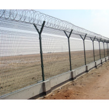 Post Welded Wire Mesh Security Prison Airport Fence Netting