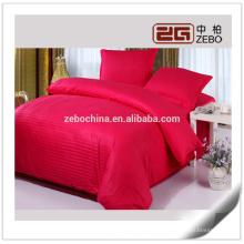 Bunte 1cm Streifen Stoff Baumwolle benutzerdefinierte Queen Hotel Bettwäsche Bettwäsche