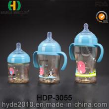 Por atacado 330ml PPSU plástico mamadeira de alimentador, BPA livre personalizado garrafa de água de plástico do bebê (HDP-3055)