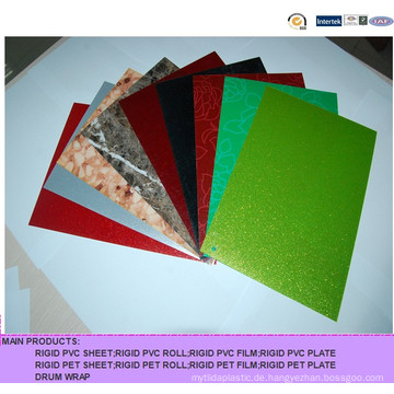 Farbige, harte PVC-Folie mit unterschiedlicher Textur