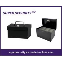 Coffre-fort en métal d'argent comptant / boîte d'argent / coffre de pièces de monnaie (STB0406)