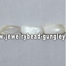 narrow rectangle shape freshwater shell beads
