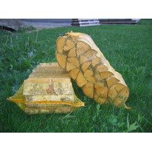 Bolsa de red de madera de fuego