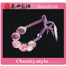 Vintage à la main déclaration branché pierre précieuse coloré cristal funky rose bijoux de mode filles gros gros colliers en gros