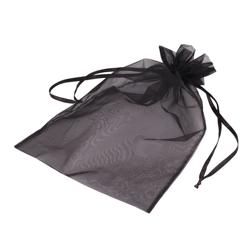 Black Organza Bag with Drawstring