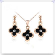 Accesorios de moda joyería de cristal joyas de aleación conjunto (ajs154)