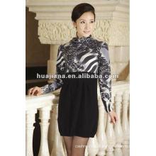 Vestido de caxemira misturado feminino fabricado na China
