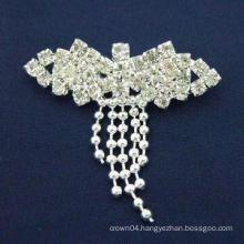 Fashion simple rhinestone brooch