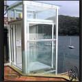 Ascenseur panoramique stable en verre