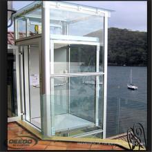 Passageiro panorâmico de vidro barato estável do elevador do elevador
