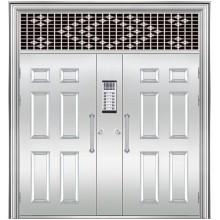 puerta de acero inoxidable con ventana de espejo de popa