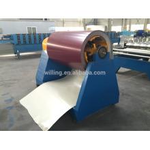 5тонная гидравлическая разматывающая машина для цветной листовой стали